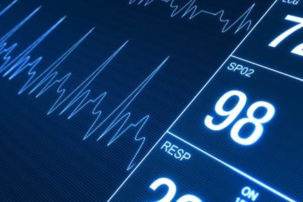 28352337 - heart rate monitor illustration. health technology concept